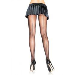 Leg Avenue Backseam Sheer Pantyhose-Black